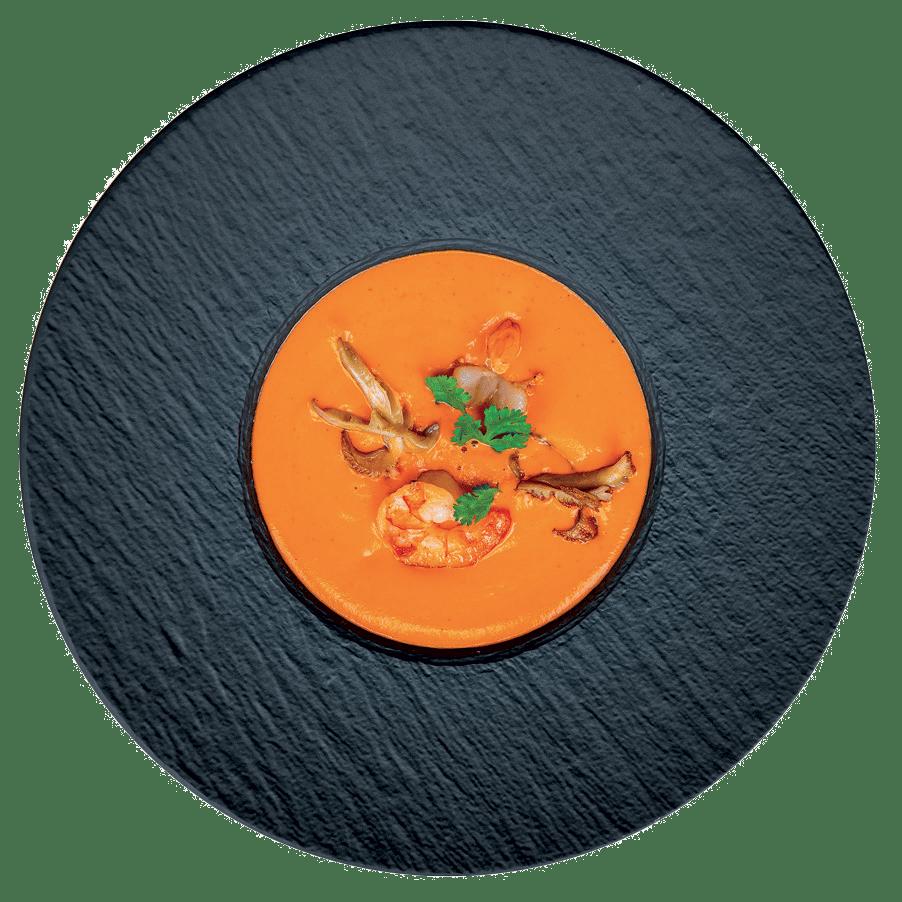 Pikantní thajská polévka, tygří kreveta, hlíva ústřičná (2, 7)                   139 Kč
